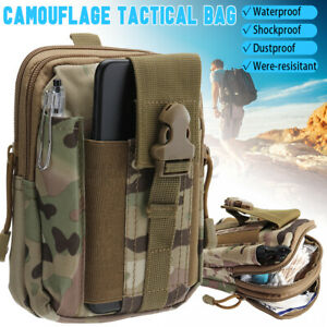 Camouflage Belt Waist Bag Bumbag Military Tactical Molle Fanny Pack Pouch UK