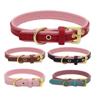 Genuine Leather Real Dog Collar Pet Puppy Leads leash available Gold accessories