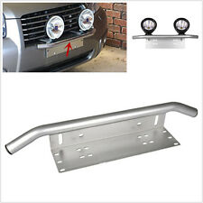 SUV 4x4 Offroad Front Bumper License Plate Driving/Working Lights Mount Bracket