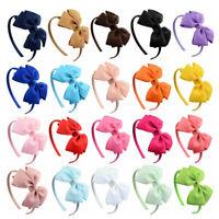 New Cute Kids Hair Hoop Headbands Sweet Bow Hair Accessories Headwear LJYUYU