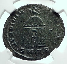 Divus MAXIMIAN Posthumous Roman Coin of CONSTANTINE I w TEMPLE SHRINE NGC i77666