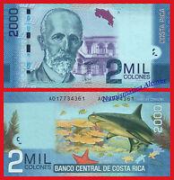 COSTA RICA 2000 Colones 2009 2011 Pick 275 SC / UNC