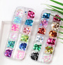 12 Grid/Box Nail Art 3D Decoration Nail Glitter Sequins Laser Geometry Flakes