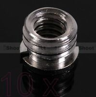 "10 1/4-3/8""Metal Adapter Screw Nut f Umbrella Holder Flash Bracket Camera Tripod"