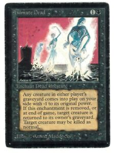 Animate Dead - BETA Edition - Old School - MTG Magic #2 - PO
