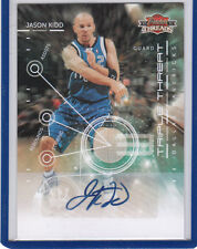 Jason Kidd 2010 11 Panini Threads Triple Threat Autograph /15 Dallas Mavericks