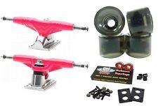 """Gullwing ProIii 9"""" 155mm Pink Trucks + Blank Pro 60mm Clear Smoke Wheels"""