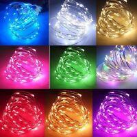 20/50/100 LED Cuivre Mini Fée fil de chaîne Guirlande lumineuse noël fête déco