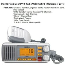 "Uniden Triple Watch UM385 VHF Radio With Canadian Marine Broadcast ""B"" Channels"