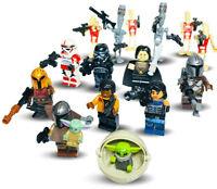 CUSTOM LEGO MANDALORIAN MINIFIGURES UK STAR WARS BABY YODA - MINI FIGURES