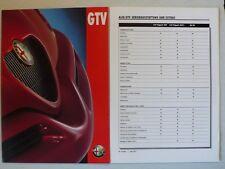 Prospekt Alfa Romeo GTV 2.0 T. Spark 16 V/L, V6 TB, 5.1995, 20 Seiten + Daten