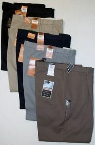 Haggar 7524 W2W Classic Fit Comfort Waist PLEATED FRONT Khaki Chino Pants