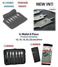 BOSCH 2608587793 Self Cut Spade Flat Drill Bit Set In Wallet 6 Piece