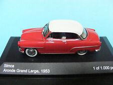 SIMCA ARONDE Grand Large 1953 WhiteBox 198335 1/43