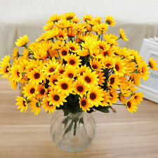 14 Head Fake Sunflower Artificial Silk Flower Bouquet Table-Wedding