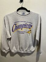 Minnesota Vikings Vintage 1998 Central Division Champions Gray Sweater Large XL