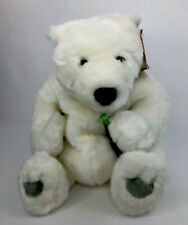 "Coca Cola 12"" Polar Bear Plush Holding Coke Bottle w/ Tags Cavanaugh Coke Brand"