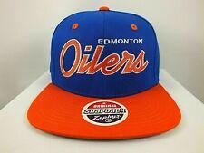 Edmonton Oilers Hat NHL Retro Blue orange Snapback Cap One Size New NWT Zephyr