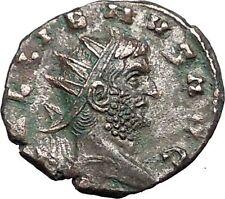 GALLIENUS 254AD Authentic  Rare Ancient Roman Coin Providentia Magic wand i55885