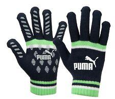 PUMA Unisex CAT LOGO Magic II Knit Gloves Fleece Navy Green Run Glove 04167808