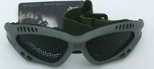 Tactical Airsoft Eye Protection Goggles Green Mesh Metal Glasses Wosport