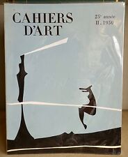 CAHIERS d'ART 25e année tome 2 1950 couverture : YVES TANGUY