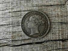 More details for 1887 sixpence (young head) - victoria british silver coin - ef
