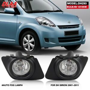 Fog Light Driving Lamp For Daihatsu Sirion 2007-2011 Set Direct Replacement