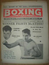 VINTAGE BOXING NEWS MAGAZINE APRIL 18th 1958 FREDDIE CROSS v PHIL EDWARDS