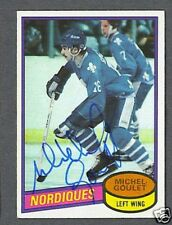 Michel Goulet signed 1980-81 Topps hockey rookie card