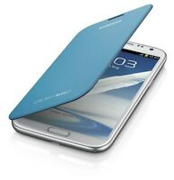 Genuine Original Samsung Galaxy Note 2 II Flip Cover Case Slim OEM Light Blue