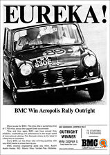 MINI COOPER S ACROPOLIS RALLY WINNER A3 RETRO POSTER PRINT FROM 60'S ADVERT