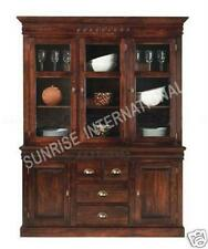 Contemporary design Wooden Glass Cabinet  (Hutch - Two part) !