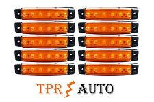 10 x 6 LED Begrenzungsleuchte Umrissleuchte 12V Positionsleuchte Orange PKW KFZ