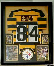 Antonio Brown Autographed Signed Jersey Framed Pittsburgh Steelers JSA