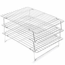Chrome Plated Cake Cooling Rack (Three-Tier) Cupcake Baking Kitchen