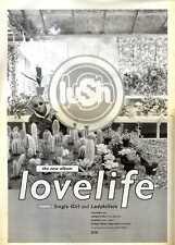 "F7 POSTER SIZE ADVERT 15X11"" LUSH : LOVELIFE ALBUM."