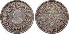 Maroc, Mohammed V, 500 F, protectorat français - 13
