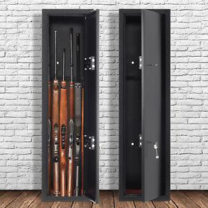 Metal Security Cabinet Safe Storage Case Rack 130cm 3/6 Gun Rifle Shotgun