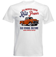 VINTAGE AMERICAN PICK UP CHEVY-Nuovo T-shirt di Cotone