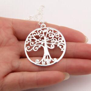 Top Qualität Anhänger Lebensbaum  Halskette Silber, Baum des Lebens