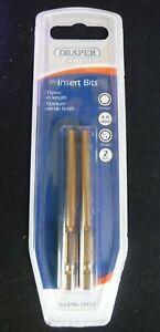 4 mm Draper Expert Hex Key Bits S2 Steel Pack of 2, 1/4 Allen 75mm Long