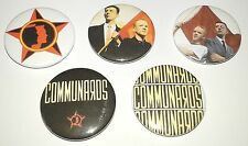 5 Communards button Badges 80's Gay Interest Don't Leave Me This Way Lonely Boy