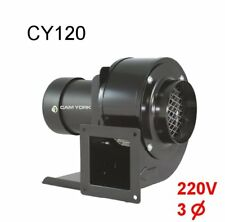 Centrifugal blower Cam York CY120 220V AC blower 3phase 1/8HP