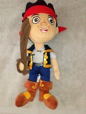 DISNEY STORE Jake and the Neverland Pirates soft plush teddy toy great condition