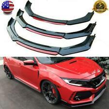 For 2013 2021 Honda Civic Sedan Hatchback Front Bumper Lip Spoiler Gloss Black Fits 2013 Honda Civic Si