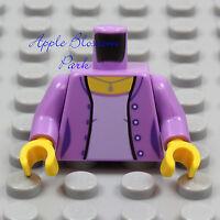 1 Lego Female Minifig Medium BLUE SUIT TORSO Pink Shirt City Jacket 10182 NEW