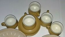 Denby Langley Ode Stoneware 5 Cups 6 Saucers