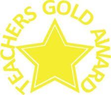 Teachers Gold Award - Self inking teacher reward xstamper stamp