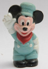 "2"" Mickey Mouse - Disney Mexico - Waving Blue Cap Coveralls - Vintage B208"